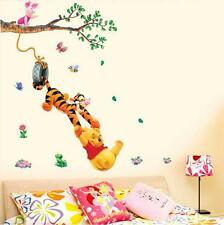 Pooh tree Cartoon Vinyl Wall stickers for kids rooms Home decor DIY Child