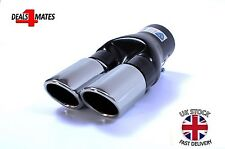 UNIVERSAL TWIN DOUBLE SPORT CHROME EXHAUST PIPE TRIM TIP TAIL 266