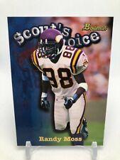 1998 Bowman Randy Moss Scout's Choice Vikings Football Card #SC12
