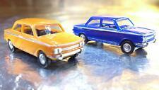 * NSU TT 2 Car Pack 1 Orange and 1 Blue Car Herpa 451604 1:87 HO Scale