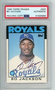 1986 Topps Traded #50T Signed Bo Jackson Rookie Card PSA Authentic Auto