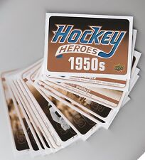 (64857) 2011-12 UPPER DECK HOCKEY HEROES 1950's HH1 to 12 + HEADER