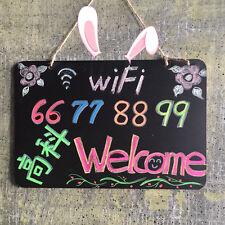 18.5 cm x 8 cm Wooden Hanging Chalk Board Blackboard Message Wedding Party Decor