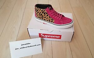 Supreme x Vans Leopard Print SK8-MID Pro in Pink leopard US 8.5
