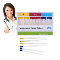 60pcs/pack Dental Endodontic Absorbent Paper Points F1.F2.F3 For Dental Use TOP