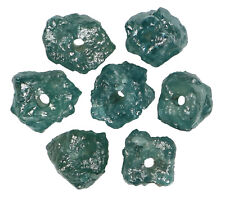 Natural Loose Diamond Rough Beads I3 Clarity Blue Color 7 pcs 1.82 Ct N7616