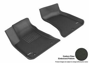 For 2011-2020 Dodge Charger Kagu Carbon Pattern Black All Weather Floor Mat Set