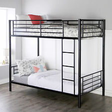 Brand New Black Metal Twin over Twin Bunk Bed-2 Beds in 1