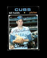Bill Hands Hand Signed 1971 Topps Chicago Cubs Autograph
