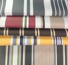 "Outdoor Striped Waterproof Canvas fabric 60"" 600 Denier wide per yard 5 colors"