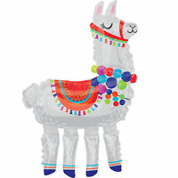 Llama Giant Airwalker Foil Balloon Party Events Mexican Fiesta Decoration