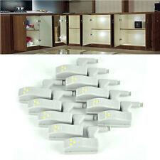 5x Universal Armario Bisagra Blanco LED Sistema de Armario Luz Lámpara  Vitrinas