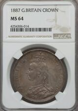 1887 GREAT BRITIAN CROWN NGC MS64 SUPER NICE! MUST SEE!