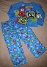 YO GABBA GABBA *Brobee+Muno+Plex* 2pc L/S Shirt Pajamas Pjs Toddler sz 4T