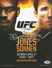 JON BONES JONES SIGNED AUTO'D MINI POSTER PSA/DNA UFC 159 VS CHAEL SONNEN CHAMP