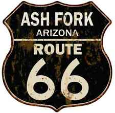 Ash Fork, Arizona Route 66 Shield Metal Sign Man Cave Garage 211110014019