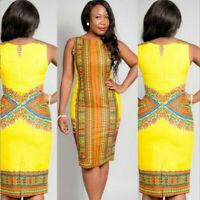 Dashiki Dresses Traditional African Sleeveless  Dress For Women vetement femme