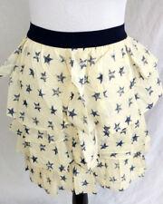 Lane Bryant Skirt Womens Plus Size 22 24 White Blue Stars Ruffle Tiered American