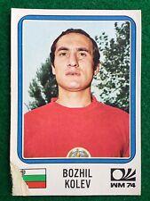 MUNCHEN 74 1974 n 257 BULGARIA BOZHIL KOLEV , Figurina Sticker Panini NEW b
