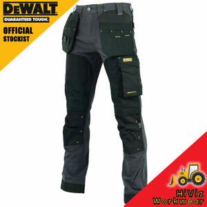 Dewalt Memphis Slim Fit Stretch Trouser Twin Holster Knee Pad Pockets Work Pants