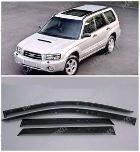 For Subaru Forester 2002 -2008 Window Side Sun Rain Visors Guard Vent Deflectors