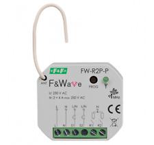 F&F F&Wave doppeltes Bistabiles Relais R2P-P Funk Steuerung 868 MHz 230V AC