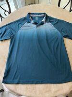 Pro Tour Cool Play Men's Blue Short Sleeve Golf Polo Shirt Size XL