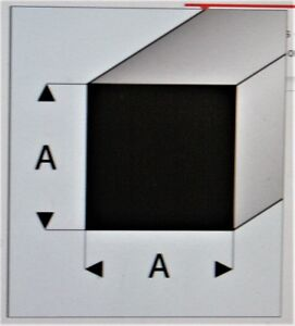 "MAQUETT 407-52/3 White Styrene square rod 1.50mm / 0.060"" x 330mm/ 13""  X5"