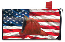Fireman Helmet Magnetic Mailbox Cover Emergency Services Standard Briarwood Lane