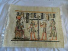 "Egyptian Papyrus Paper Judgement Anubis Weighing The Heart Scene 13""X17"""