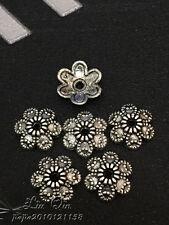 PP174 50pc Tibetan Silver Charm Lotus Flower Bead Caps Accessories Wholesale