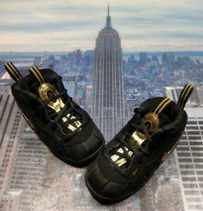 Nike Little Posite Pro Black/Metallic Gold TD Toddler Size 6c One 843769 010 New