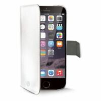 "Celly Elegant Faux Leather Stylish Wallet Case for iPhone 6/6s Plus 5.5"" White"