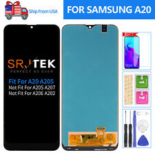6 TFT For Samsung Galaxy A20 A205 Screen Replacement LCD Display Touch Digitizer