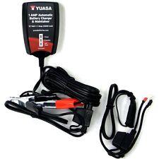 NEW YUASA AUTOMATIC 12V 1 AMP MOTORCYCLE ATV UTV WATERCRAFT BATTERY CHARGER 12 V