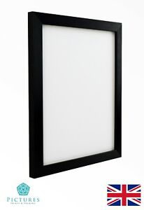 "Black Photo Picture Frame 19mm 11""x11"" 11x12"" 11x13 11x14 11x15-20"" Mount Glass"
