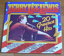 Jerry Lee Lewis 1985 Black Tulip UK LP 20 Greatest Hits Studio and Live cLEAn NM
