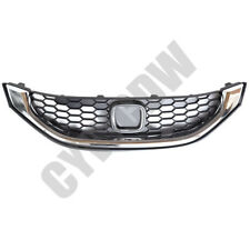 For Honda Civic SI 2013-2015 Silver Front Bumper Middle Grille Mesh Grill