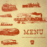Vintage 1961 The Pennsylvania Railroad PRR Dinner Menu Trains Locomotives