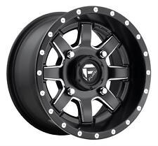 One Fuel utv Maverick D538 15x7 4x156 ET13 Black/Milled Wheel