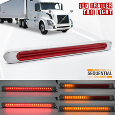 2x LED Strip RV Trailer Truck DRL Stop Sequential Signal Brake-Tail Light Bars