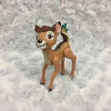 Bambi Disney Deer w Butterfly Character Small Plastic Vtg Figurine Cake Top Toy