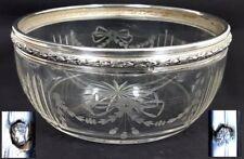 Schale, Kristall- Glas, Silber, LOUIS COIGNET, Frankreich, um 1890 AL540