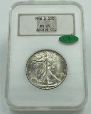 1946-D NGC & CAC MS65 Walking Liberty Silver Half Dollar