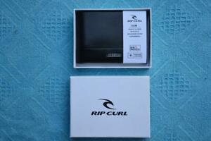 RIPCURL Mens SLIM Black LEATHER Wallet. Multi-Card. Note Sleeve. New. rrp$39.99