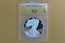 2010-W PROOF American Eagle Silver Dollar  ANACS PF70 DCAM