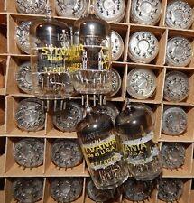 15 PIECES PRO AUDIO 12AT7 / ECC81 / WB ECC801S NOS SYLVANIA MINT TUBES VINTAGE