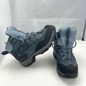 LL BEAN Gore-Tex Waterproof Hiking Trail Boots Soles Blue Suede Womens 7.5M*