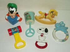 Vintage Lot of Baby Rattles & Toys Fisher Price, Danara, Disney, Stahlward