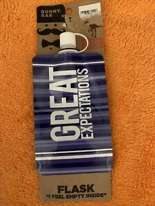Bonny Bar Great Expectations 8 fl. oz Collapsable Flask I Feel Empty Inside